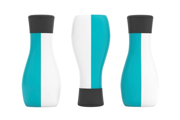 白い背景の上の化粧品のためのプラスチックチューブパッキング