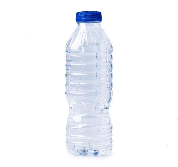 クリッピングパスと白い背景で隔離のプラスチック製の水筒。