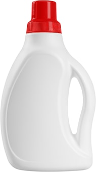 Пластиковая белая бутылка для моющего средства - изолированные