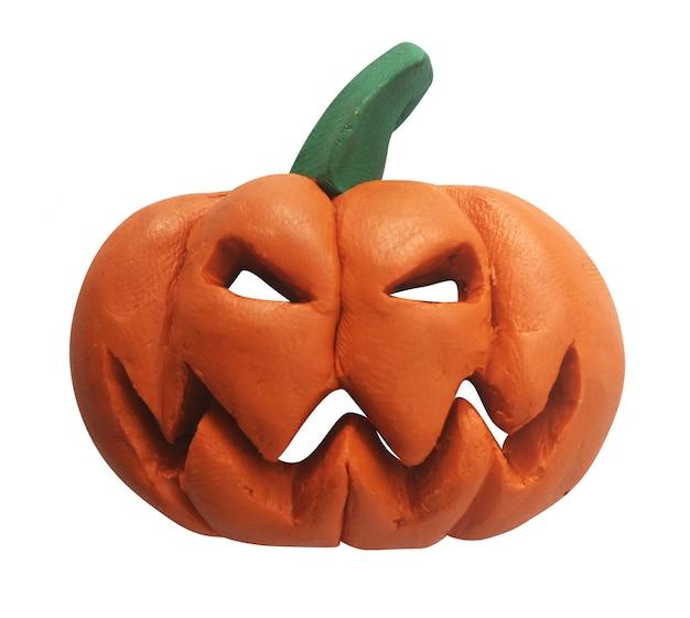 Plasticine pumpkin