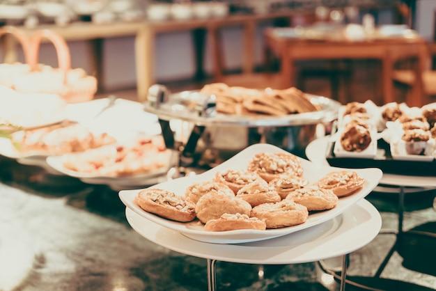 Праздник еда партии плиты закуски