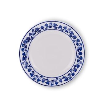 접시 세라믹 흰색 배경에 고립