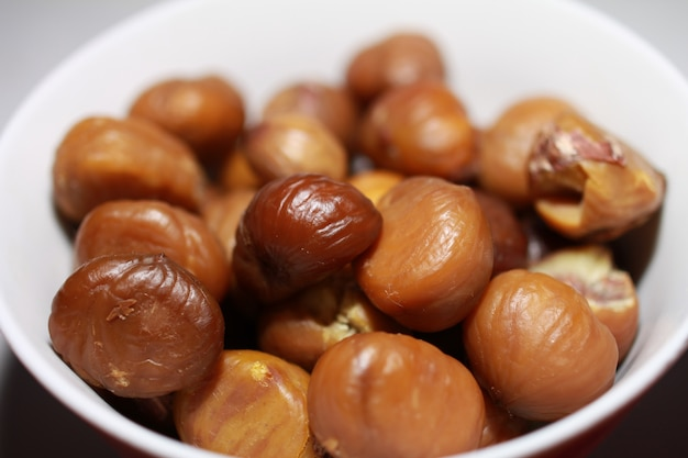 Plate of chestnuts