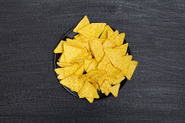 Plate of crunchy nachos