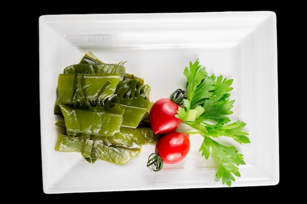 Plate of green vegetables