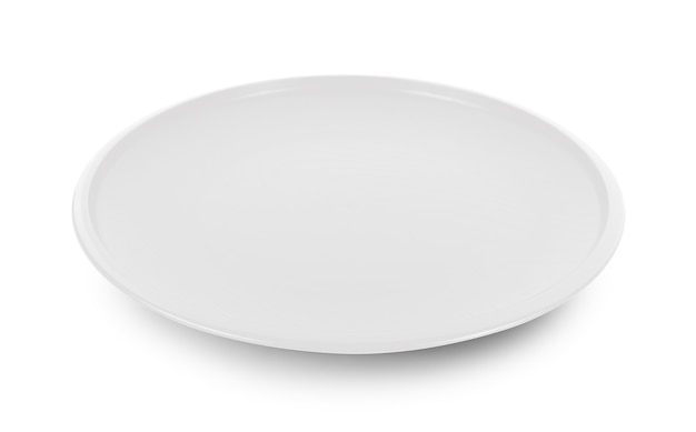 白い背景で分離されたプレート