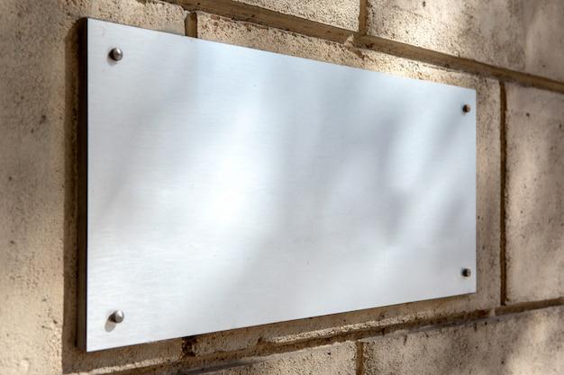 Plate metal sign