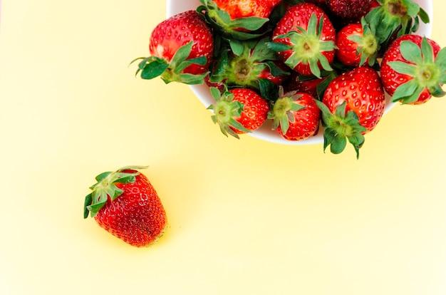 Plate of red strawberries