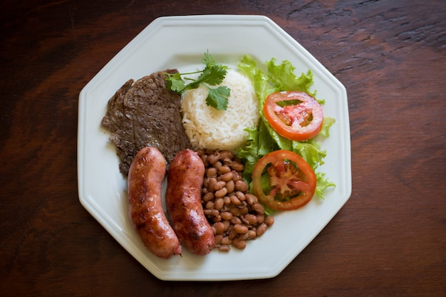 Plate with delicious food
