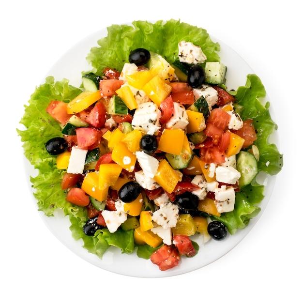 Тарелка с греческим салатом