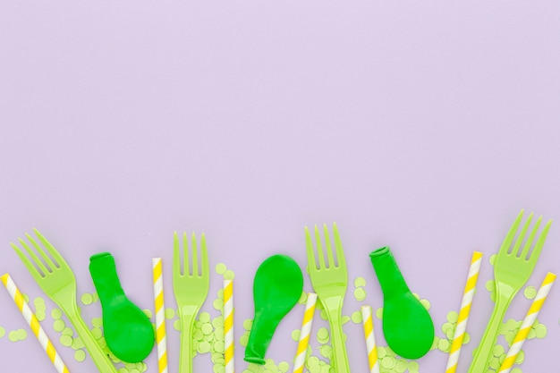 Set di forchette e palloncini platic