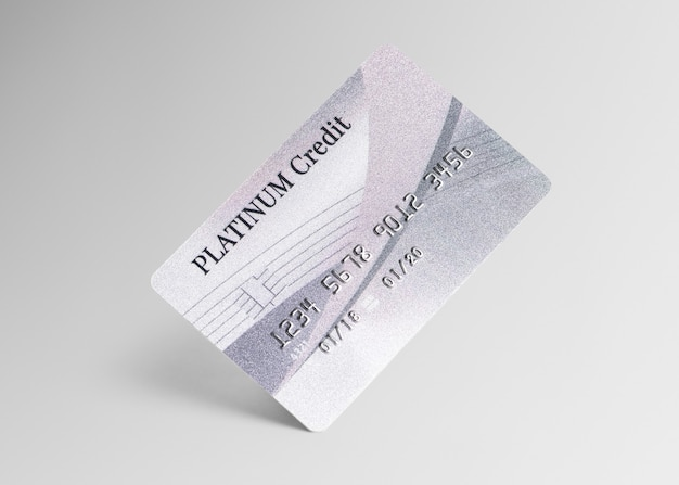Platinum credit card mockup money and banking