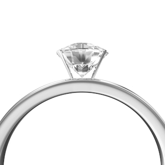Platinum wedding ring with diamond