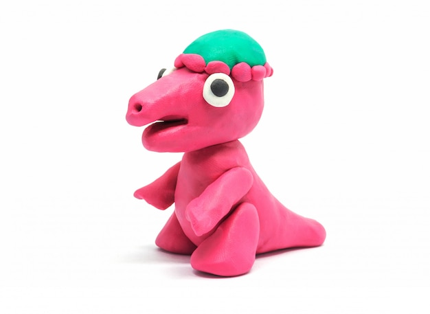 Play doh pachycephalosaurus on white background