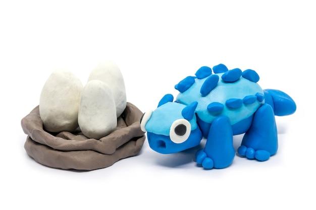 Play dough ankylosaurus o