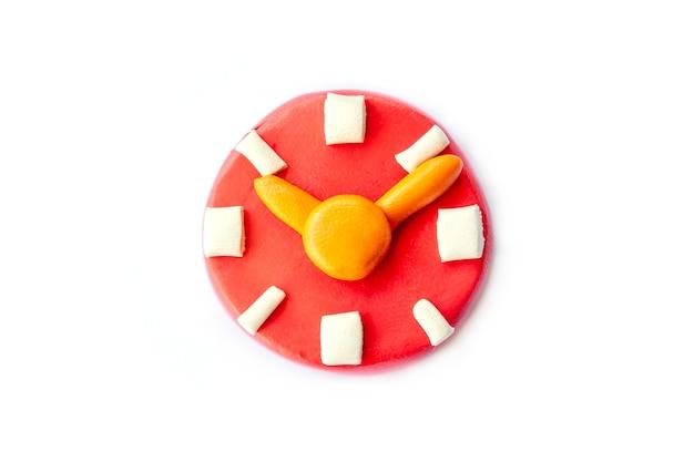 Play dough clock