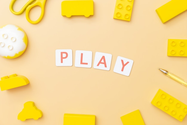 Play and learn with toy and objects for child education concept