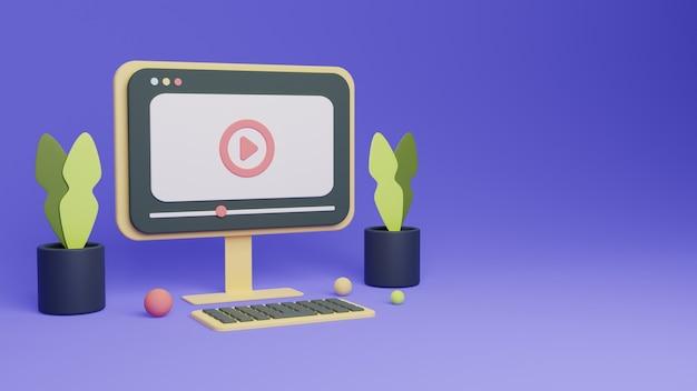 Воспроизвести концепцию рендеринга видео