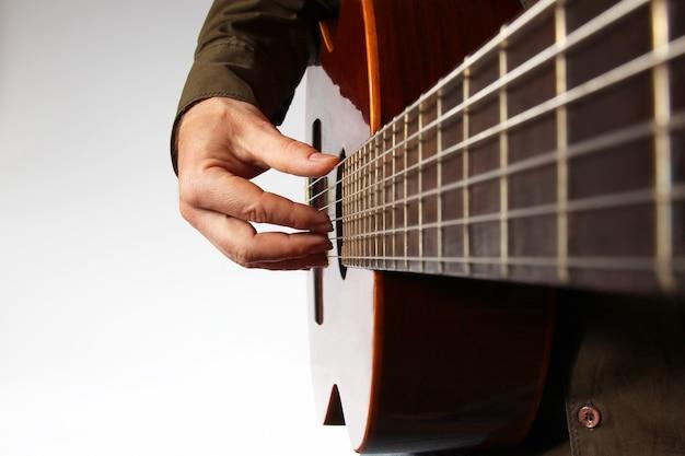 クラシックギターで右手を弾く