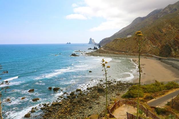 Пляж плайя-де-альмасига, тенерифе, испания