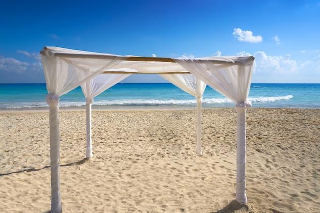 Playa del carmen beach gazebo mexico