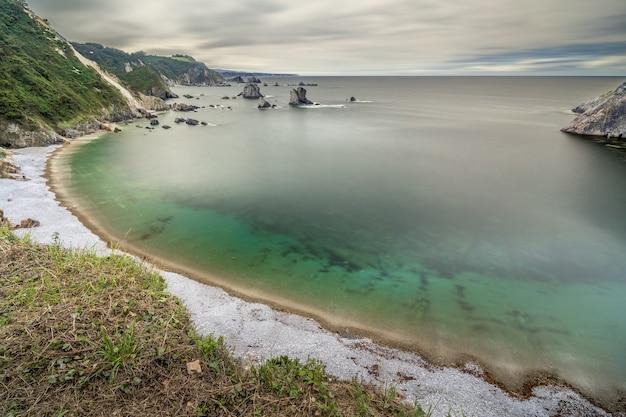 Playa del silencio in asturias spain long exposure
