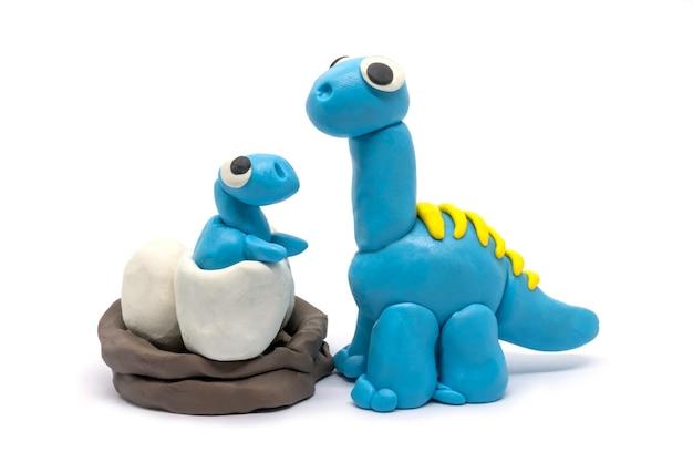 Playdough brachiosaurus and baby