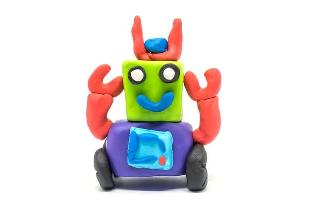 Робот playdough, изолированные на белом фоне