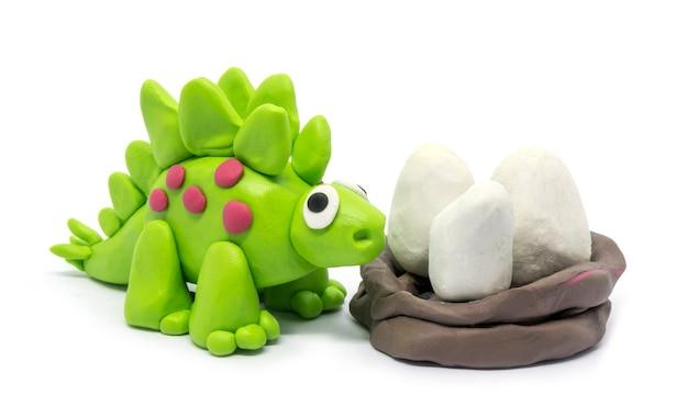 Playdough stegosaurus toy