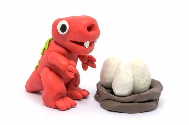 Playdough tyrannosaurus and egg
