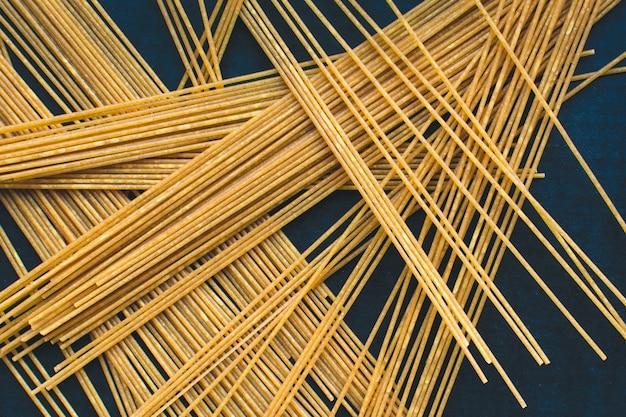 Playful bunch of pasta spaghetti