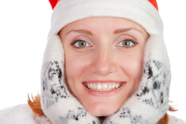 遊び心のある若いクリスマスの女の子