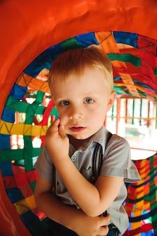 Playground in indoor amusement park for children.
