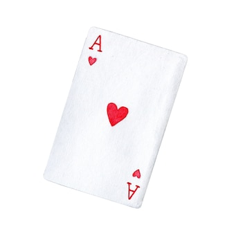 Playing card of ace of hearts