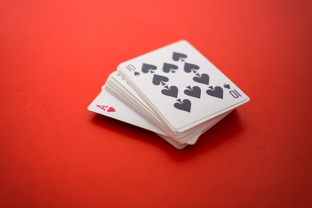 Playing cards isolated