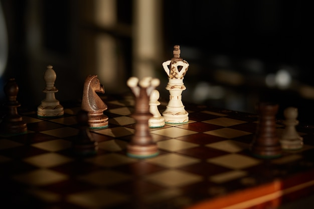 Playing chess at home