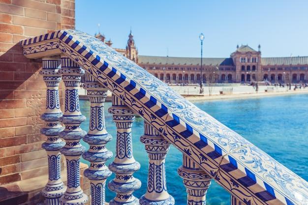 Plaza de espana balustrade in seville