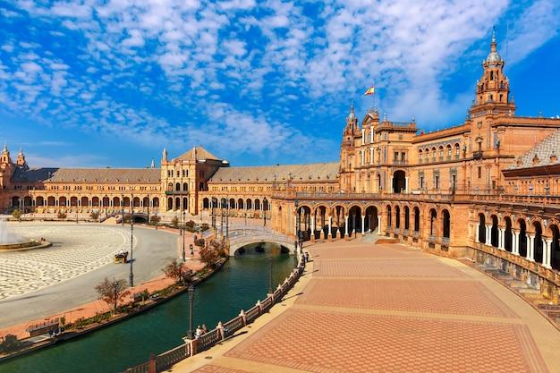 Plaza de espana at sunny day in seville, spain
