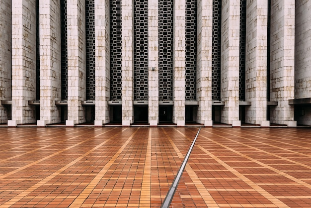 The plaza of istiqlal mosque