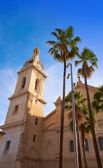 Plaza la seu santa maria church in xativa