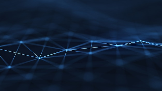 Plexus抽象的なネットワークタイトル技術のデジタルbackground.geometrical形状。