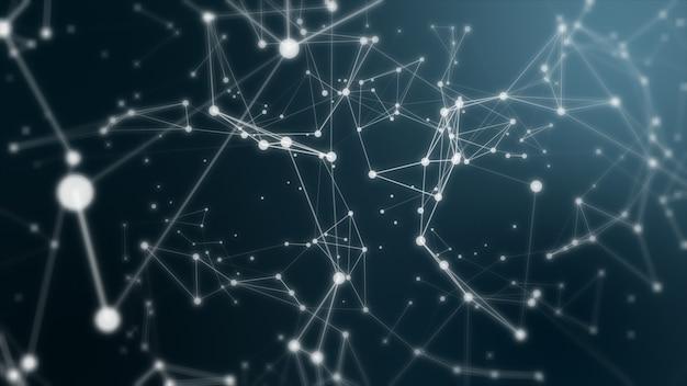 Сплетение фантазии абстрактных технологий и инженерного фона с оригинальным органическим движением