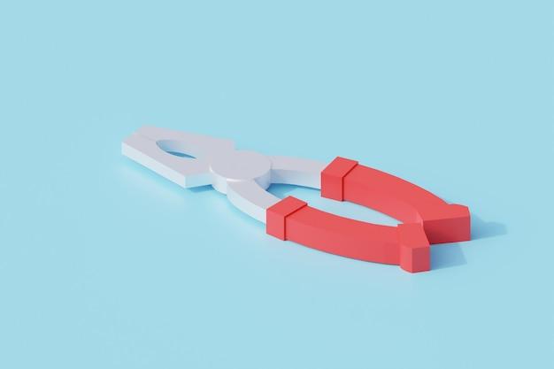 펜치 단일 고립 된 개체. 3d 렌더링