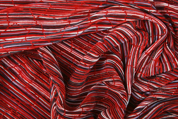 Plisse fabric background texture.
