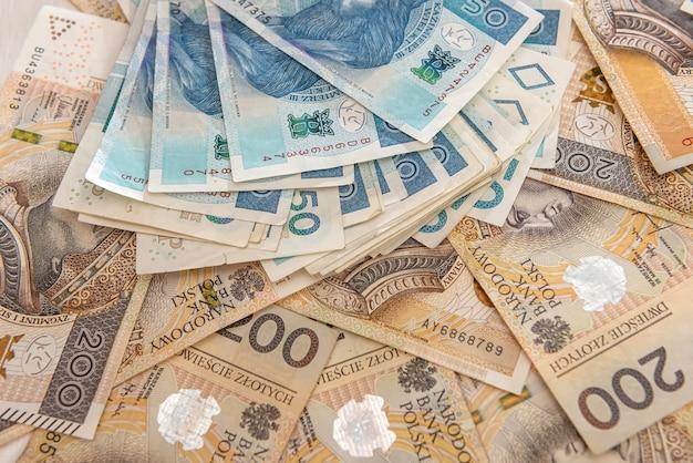 Pln polish money as background for design. financial concept