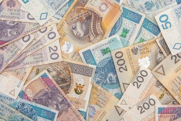 디자인에 대 한 배경으로 pln 폴란드어 돈입니다. 금융 개념