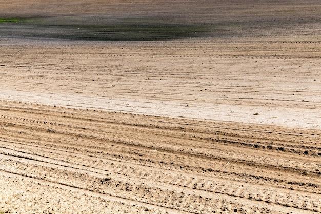 新しい作物を植えるための耕作農地