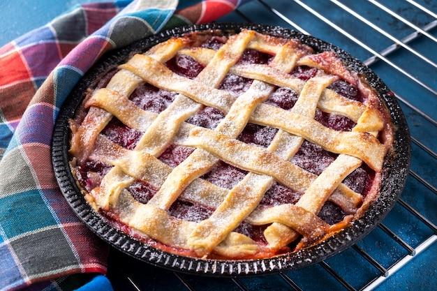 Сливовый торт. вкусный фруктовый пирог.