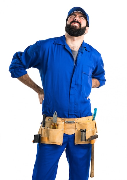 Plumber with back pain