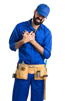 Plumber with heart pain
